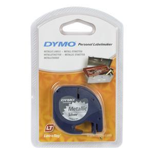 Dymo Letratag Metallic tape silver 12mm x 4 m          91228