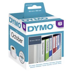 Dymo Lever arch labels 190mm x 59mm / 1 x 110 pcs 99019