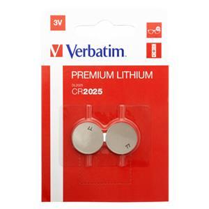 1x2 Verbatim CR 2025 Lithium Battery           49935