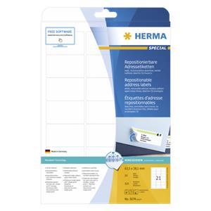 Herma Repositionable Lab