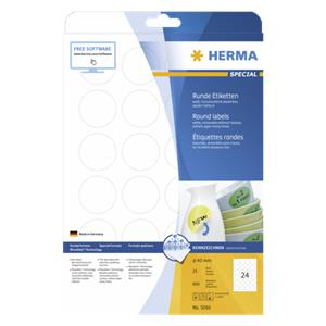 Herma Removable Round La