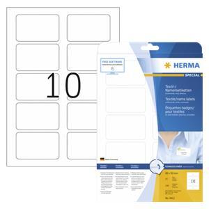 Herma Textile/Name Labels  80X50 25 Sheets DIN A4 250 pcs. 4412 - ODMAH DOSTUPNO