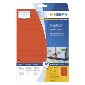Herma Labels red 45,7x21
