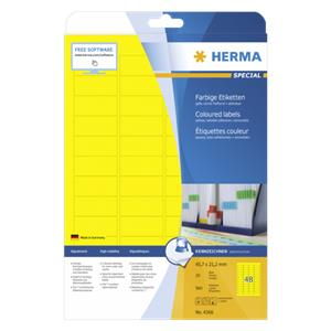 Herma Labels yellow 45,7