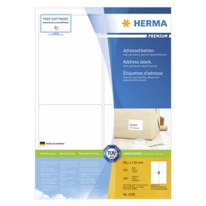 Herma Address Labels    99,1x139 100 Sheets DIN A4 400 pcs. 4250