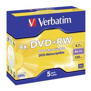 1x5 Verbatim DVD+RW 4,7G