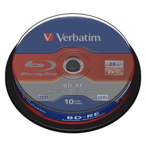 1x10 Verbatim BD-RE Blu-