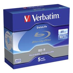 1x5 Verbatim BD-R Blu-Ra