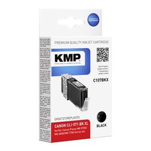 KMP C107BKX ink cartridge sw comp. with Canon CLI-571 XL BK