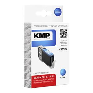 KMP C107CX ink cartridge cyan comp. with Canon CLI-571 XL C