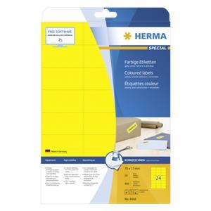 Herma Labels yellow 70x3