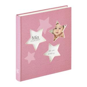 Walther Estrella pink 28x30,5 50 white Pages Babyalbum UK133R