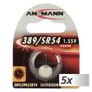5x1 Ansmann 389 390 Silveroxid SR54