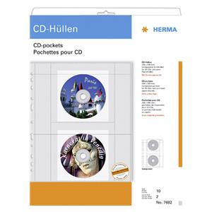 Herma CD-Sleeves for 2 C