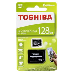 Toshiba microSDXC Class 10 128GB Exceria M203 R100 + Adapter