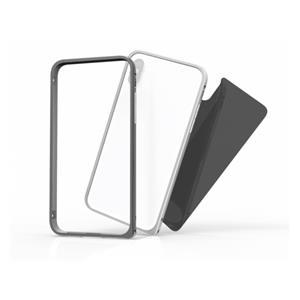 KMP Aluminum Bumper incl. backside glass Gray f iPhone X