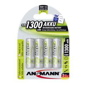 1x4 Ansmann maxE NiMH rech. bat, Mignon AA 1300 mAh