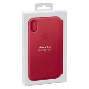 Apple iPhone XS Leather Folio Peony Pink