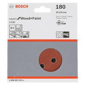 Bosch Sanding Pad C 430 D125MM Wood Grit 180 5 pcs.