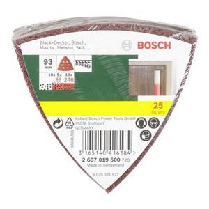 Bosch 25 Sanding sheets for delta sander grit 60/120/240