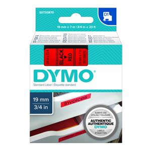 Dymo D1 Schriftband 19 mm x 7 m black to red