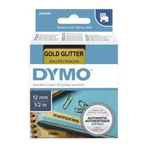 Dymo D1 Label  12 mm x 3 m black to gold