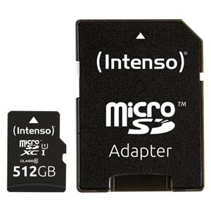 Intenso microSDXC Cards    512GB Class 10 UHS-I Premium