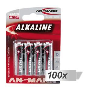 100x4 Ansmann Alkaline Mignon AA LR 6 red-line