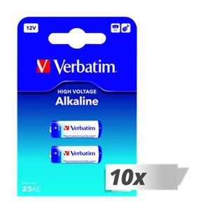 10x2 Verbatim 23 AE 12V Alkaline battery 49939