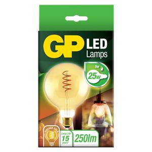 GP Lighting Filament SpiralFlame E27 G125 5W (25W) 250lm GP085195