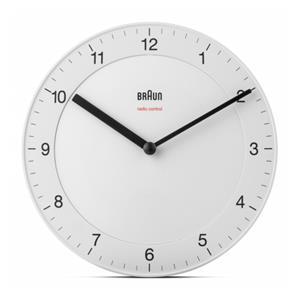 Braun BC 17 W-DCF radio wall clock white