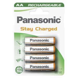 1x4 Panasonic Akku NiMH Mignon AA 1000 mAh Ready to Use DECT