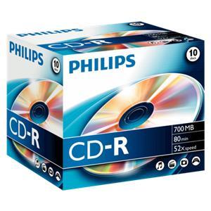 1x10 Philips CD-R 80Min