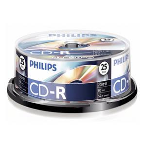 1x25 Philips CD-R 80Min 700MB 52x SP
