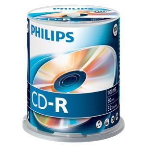 1x100 Philips CD-R 80Min 700MB 52x SP
