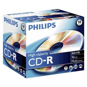 1x10 Philips CD-R 90Min
