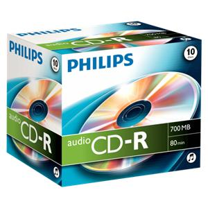 1x10 Philips CD-R 80Min Audio JC