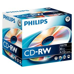 1x10 Philips CD-RW 80Min