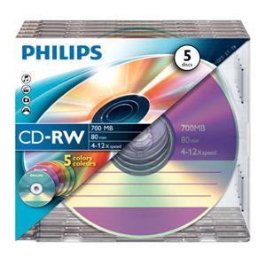 1x5 Philips CD-RW 80Min