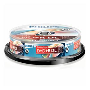 1x10 Philips DVD+R 8,5GB
