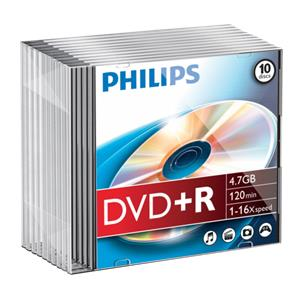 1x10 Philips DVD+R 4,7GB