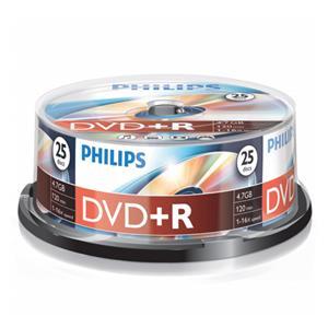 1x25 Philips DVD+R 4,7GB 16x SP