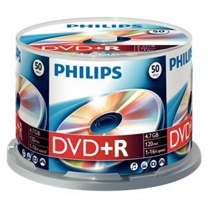 1x50 Philips DVD+R 4,7GB 16x SP