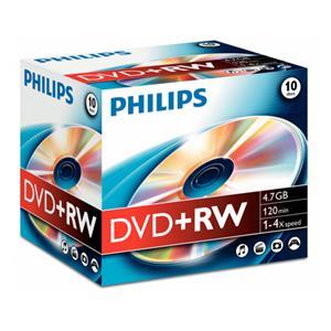 1x10 Philips DVD+RW 4,7G