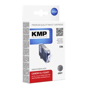 KMP C86 ink cartridge grey compatible with Canon CLI-526 GY