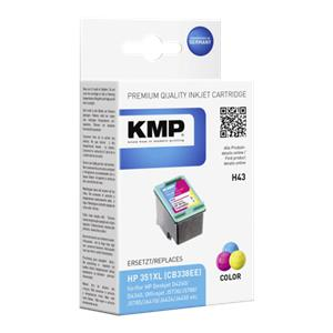 KMP H43 ink cartridge color comp. w. HP CB 338 EE No. 351XL