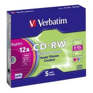 1x5 Verbatim CD-RW 80 /