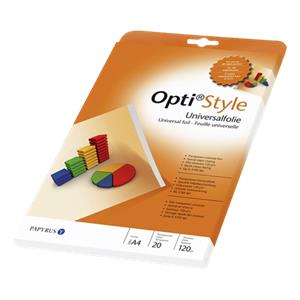 Opti style Universal Foil A4 transparent for Inkjet 20 Sheets