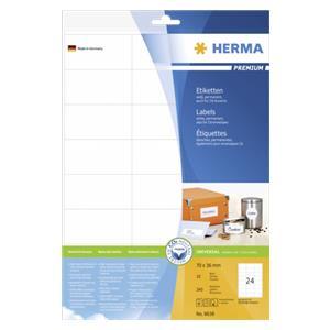 Herma Labels 70x36 white