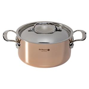De Buyer Prima Matera Saucepot copper/steel 20 cm induction